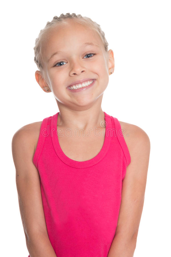 Bambina sorridente felice fotografia stock