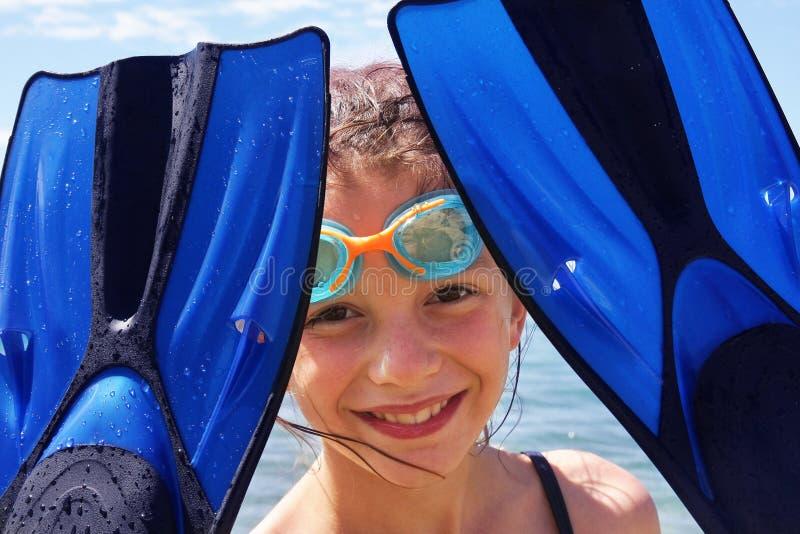 Bambina sulla vacanza fotografia stock libera da diritti