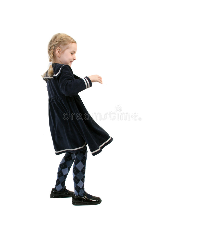 Bambina ventosa immagine stock libera da diritti