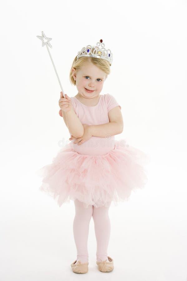 Bambina vestita come Fairy fotografie stock