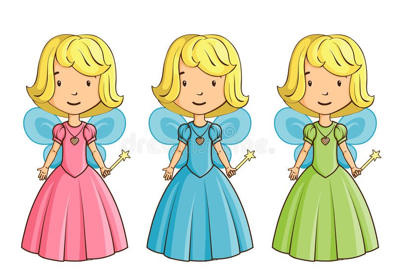 Bambina vestita come Fairy royalty illustrazione gratis