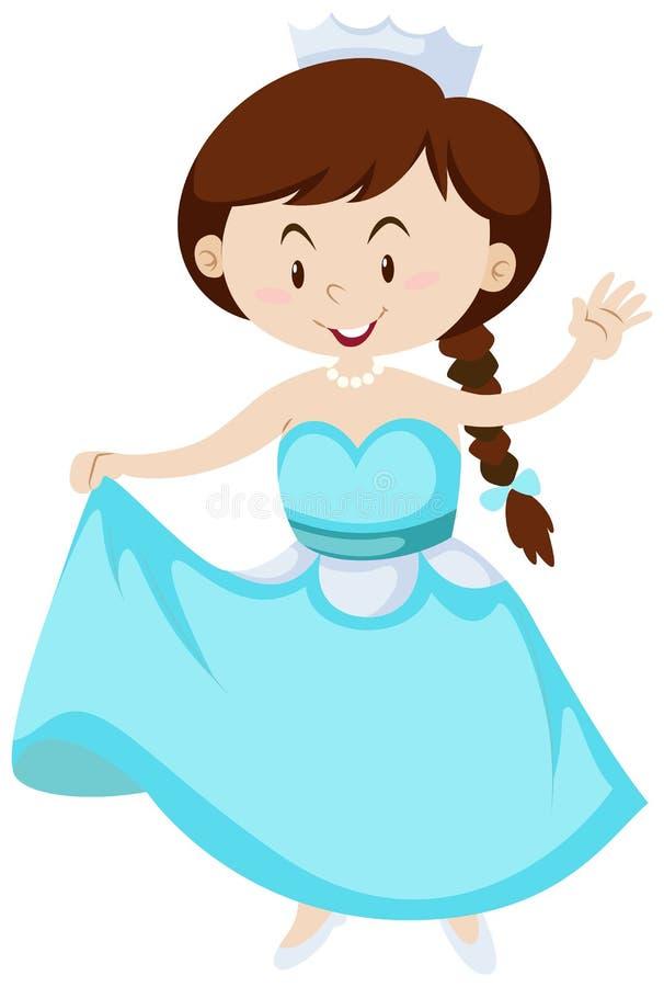 Bambina vestita come principessa illustrazione vettoriale