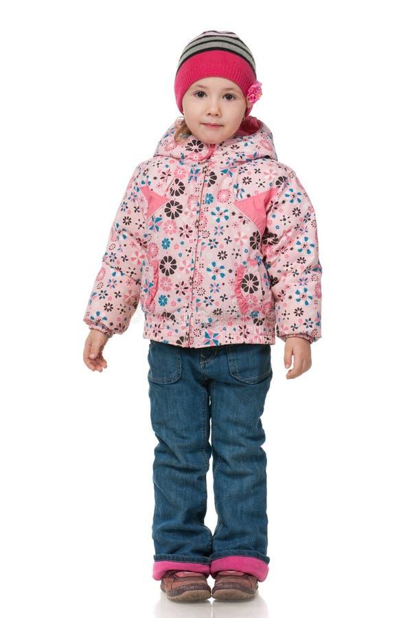 Bambina in vestiti di autunno fotografie stock libere da diritti