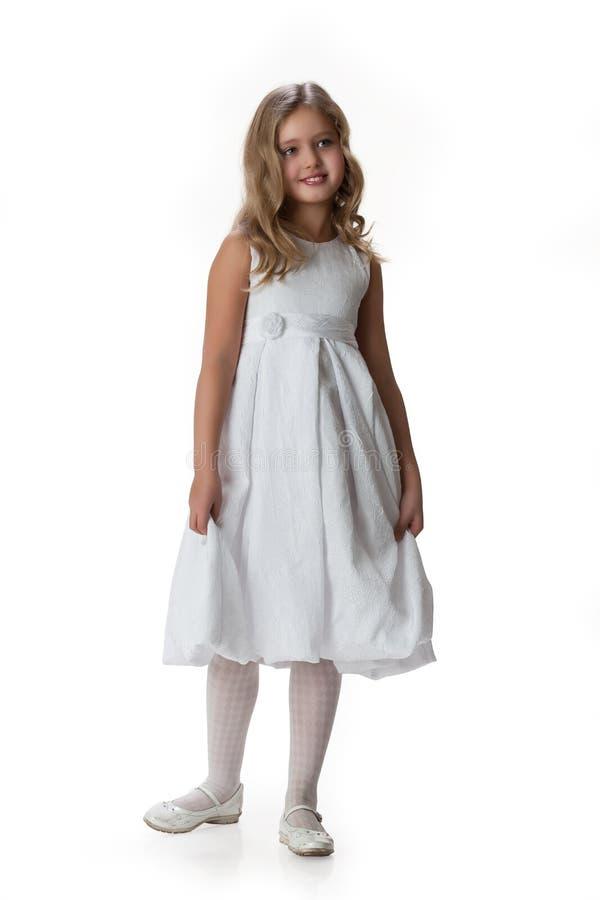 Bambina in vestiti di travestimento fotografia stock