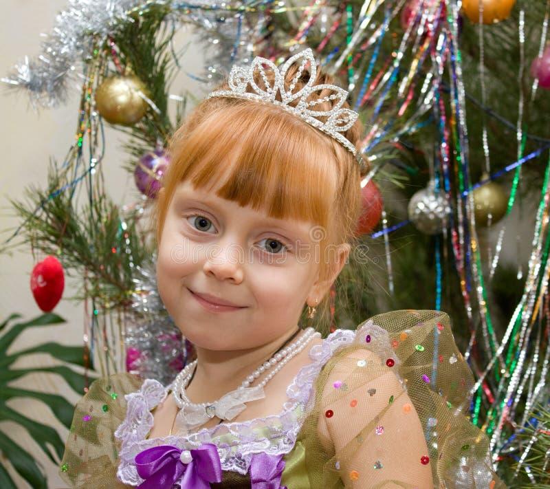 Bambina in vestito dalla principessa fotografia stock libera da diritti