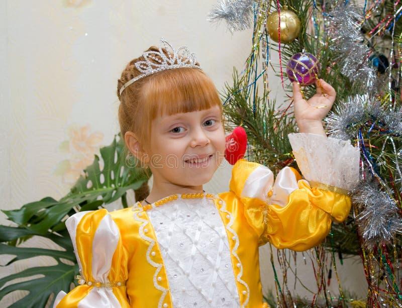 Bambina in vestito dalla principessa fotografia stock