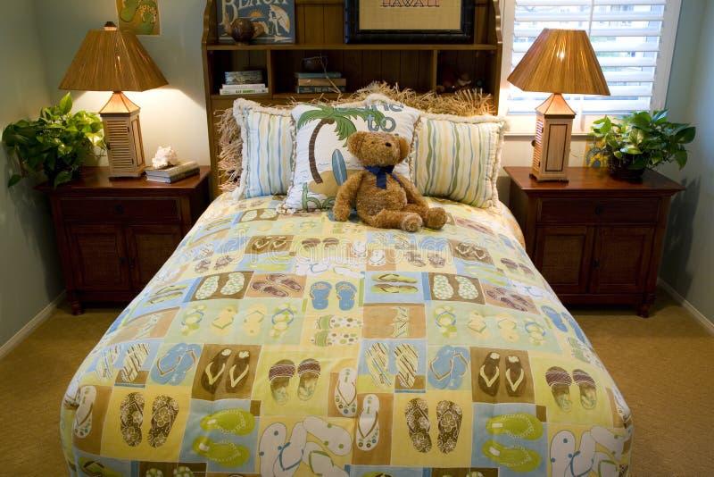Bambini 2439 della camera da letto fotografia stock libera da diritti