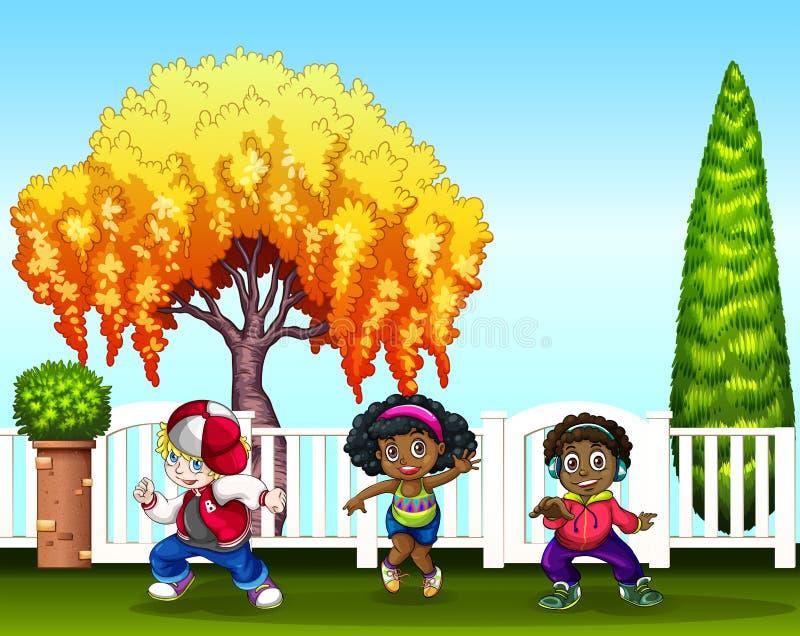 Download Bambini illustrazione vettoriale. Illustrazione di verde - 55365557