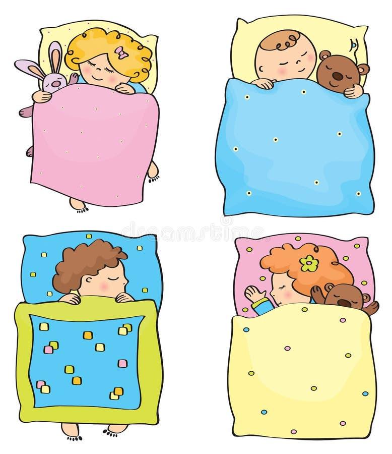 Bambini addormentati di vettore illustrazione di stock