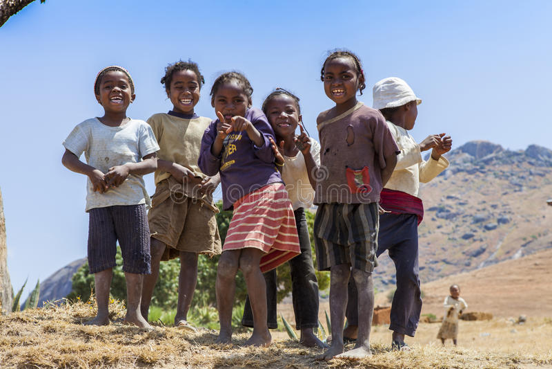 Bambini africani sorridenti immagini stock libere da diritti