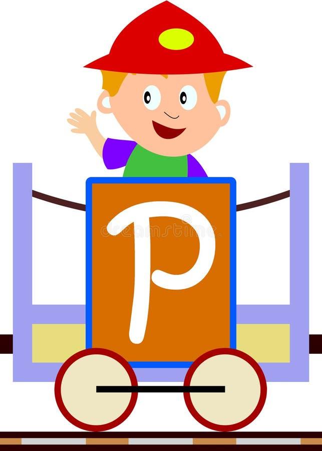 Bambini & serie del treno - P royalty illustrazione gratis