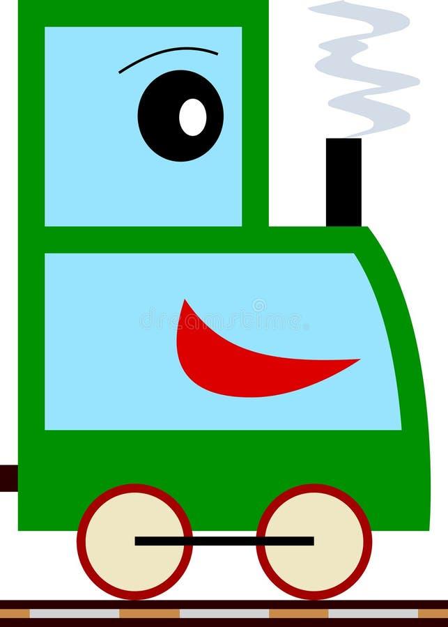 Bambini & serie del treno - ragazzo illustrazione di stock