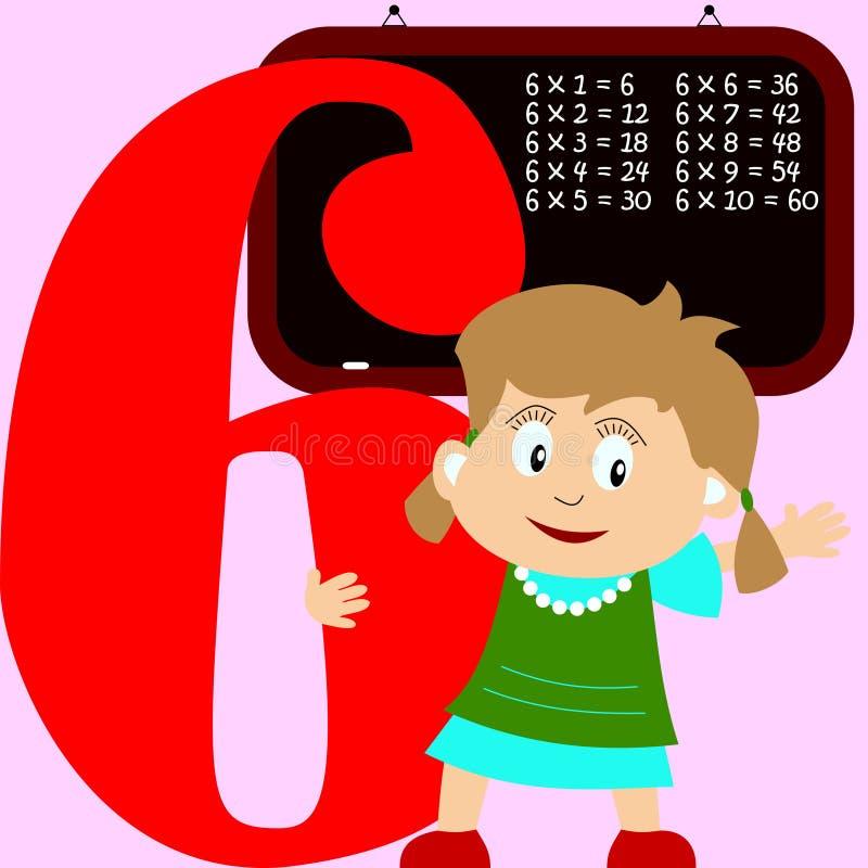 Bambini & serie di numeri - 6 illustrazione vettoriale