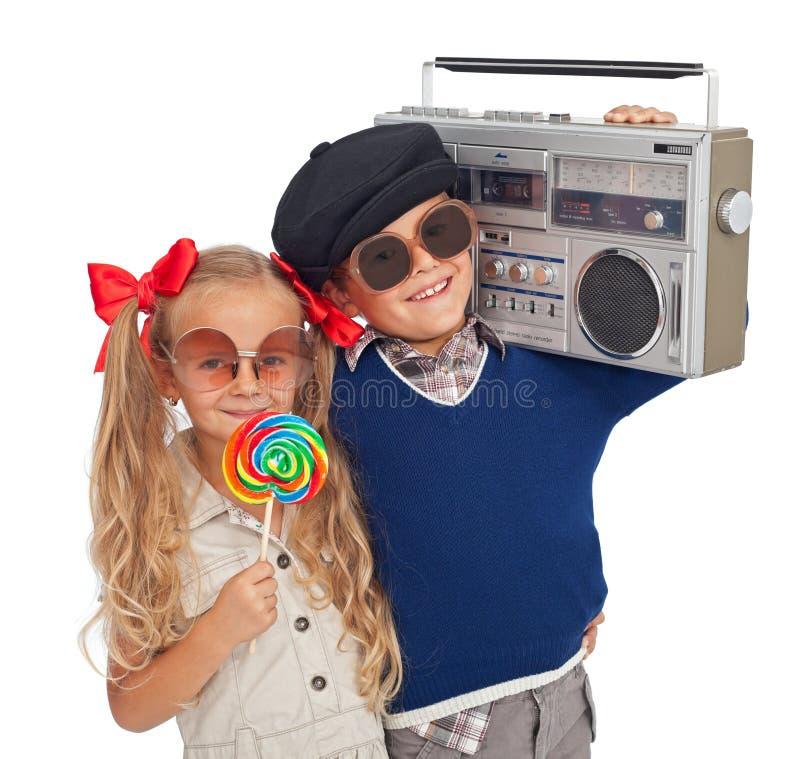 Bambini andati retro fotografia stock
