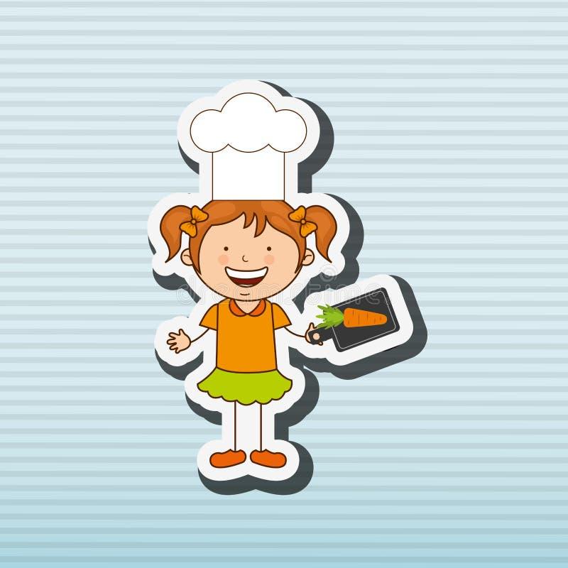 Bambini che cucinano progettazione illustrazione di stock - Bambine che cucinano ...