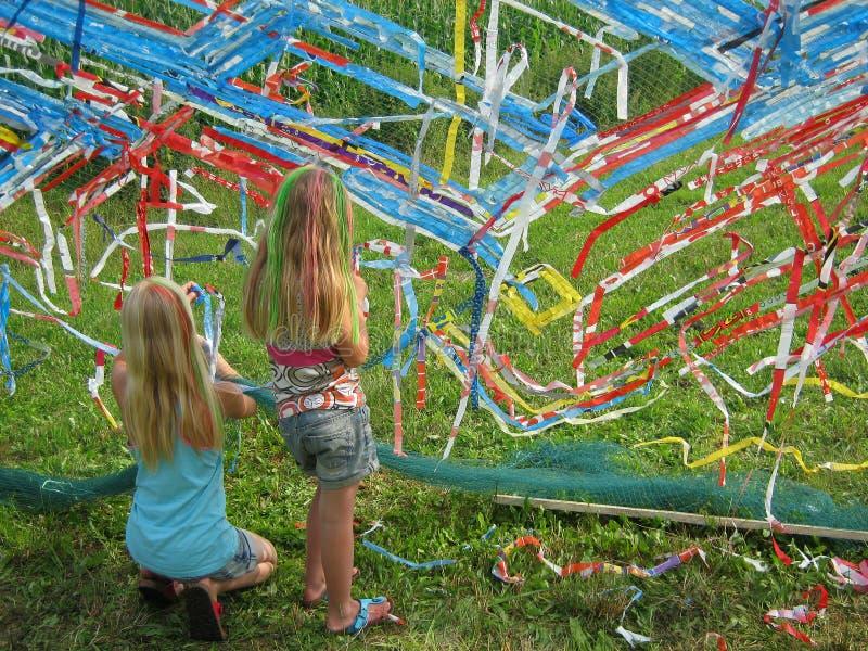 Bambini che fanno illustrazione fotografia stock libera da diritti