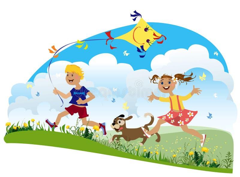 Bambini che hanno divertimento royalty illustrazione gratis