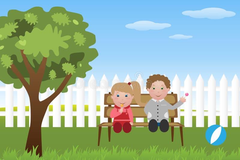 Bambini Con Il Lollipop Immagini Stock