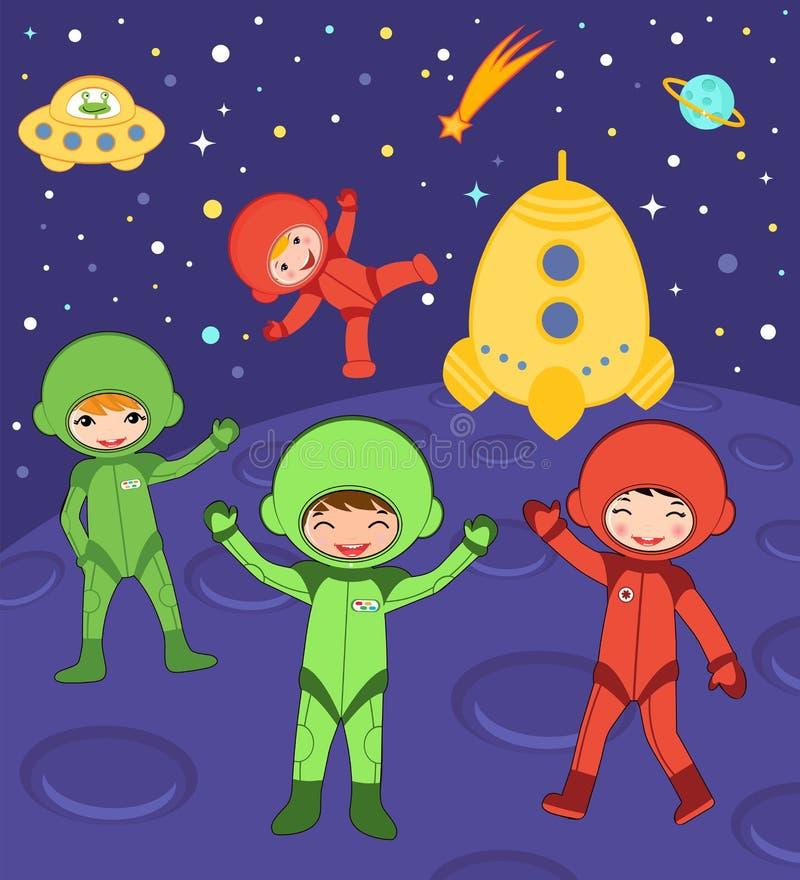 Bambini cosmici illustrazione di stock