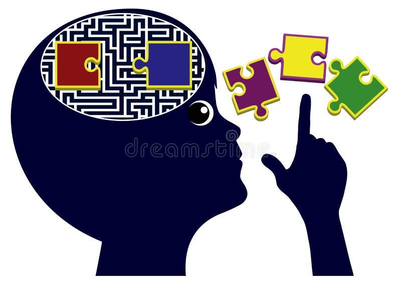 Bambini d'istruzione che pensano le abilità illustrazione di stock