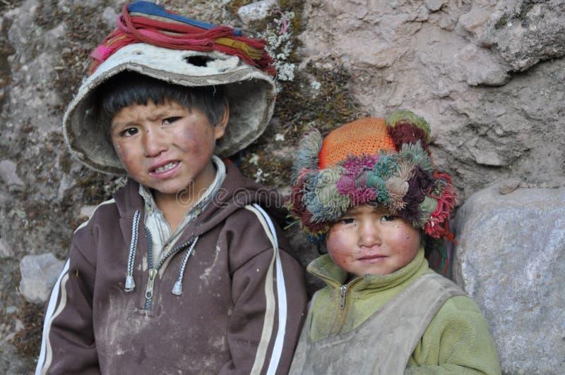Bambini dal Perù fotografia stock