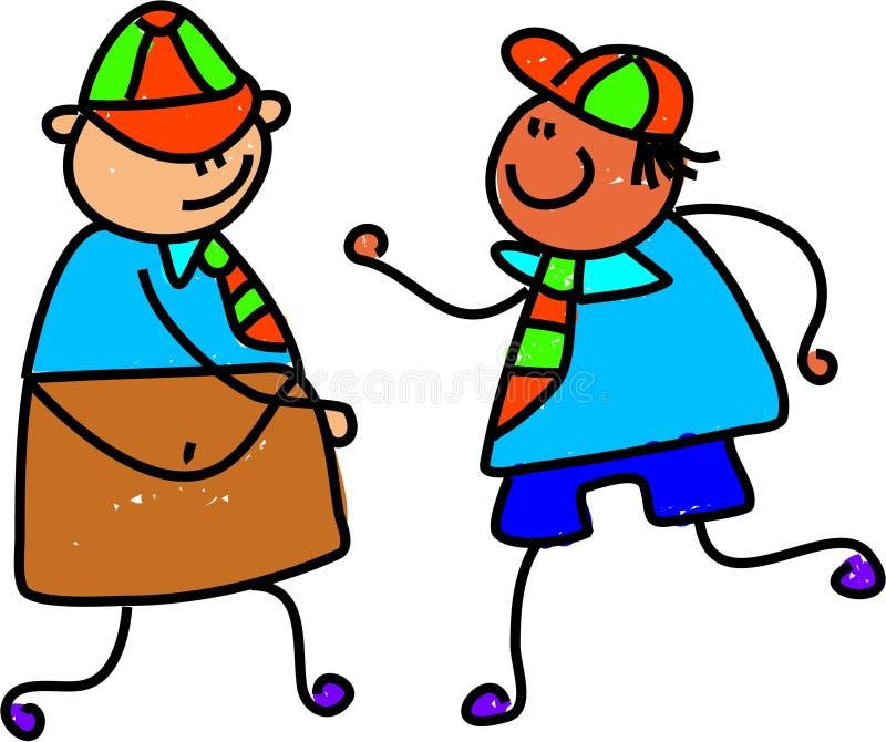 Bambini del banco illustrazione di stock