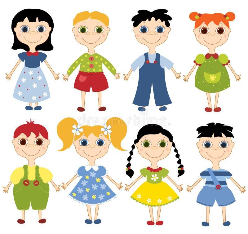 Bambini del fumetto impostati. royalty illustrazione gratis