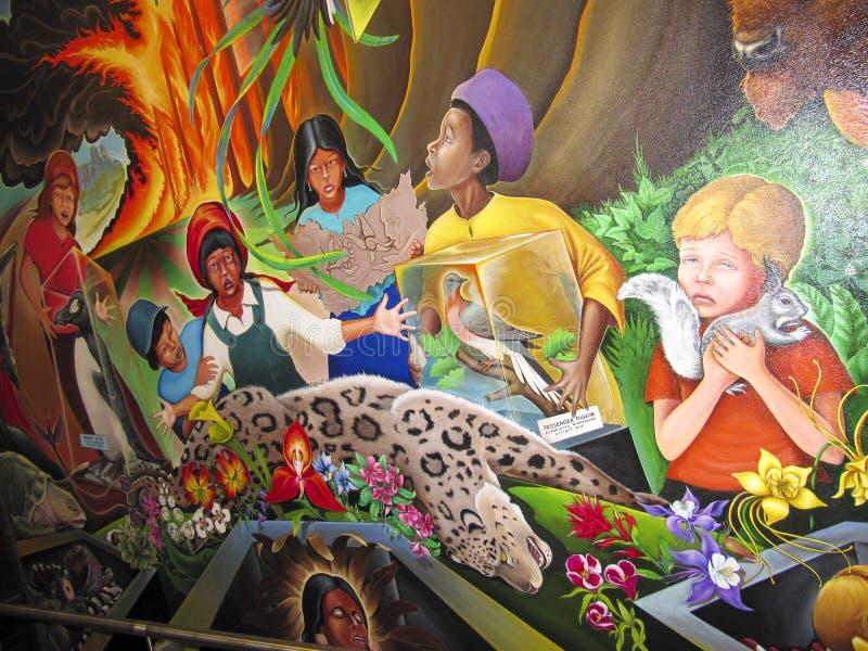 Bambini del sogno del mondo di pace royalty illustrazione gratis
