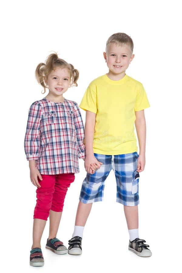 Bambini della bionda di modo fotografie stock