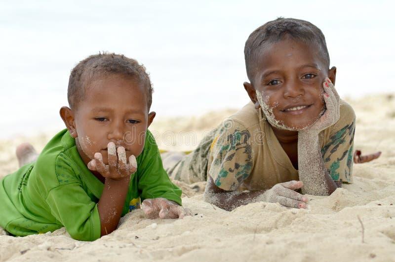 Bambini della Papuasia fotografia stock