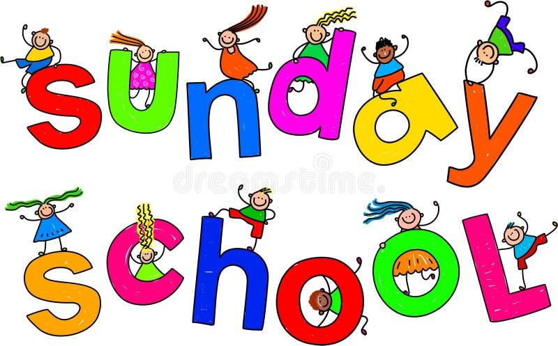 Bambini della scuola di domenica illustrazione di stock