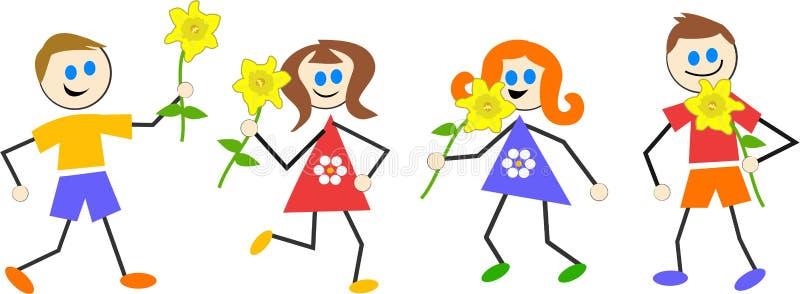 Bambini della sorgente royalty illustrazione gratis