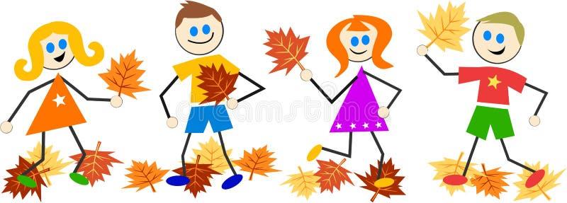 Bambini di autunno royalty illustrazione gratis
