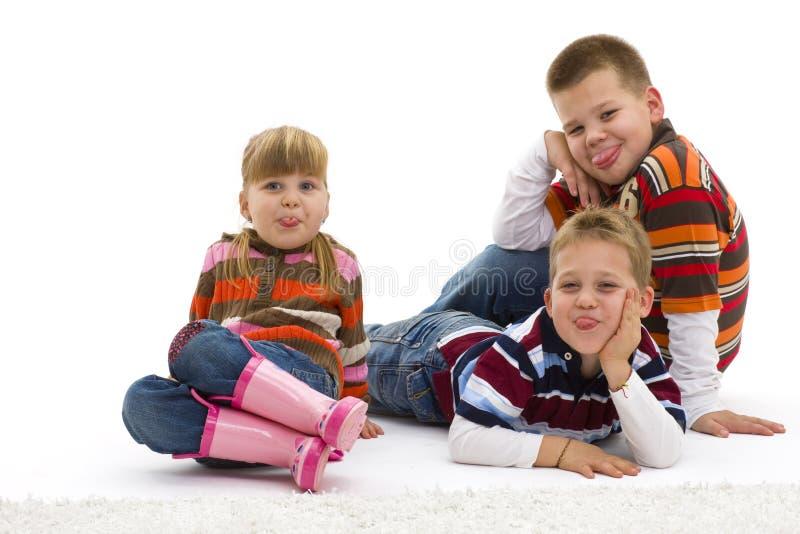 Bambini di derisione fotografia stock libera da diritti