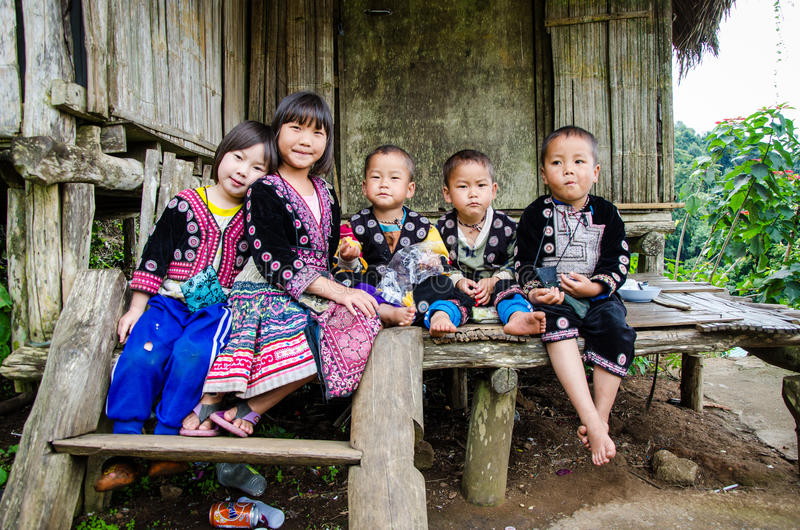 Bambini di DOI PUI Karen. fotografia stock libera da diritti