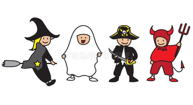 Bambini di Halloween illustrazione vettoriale