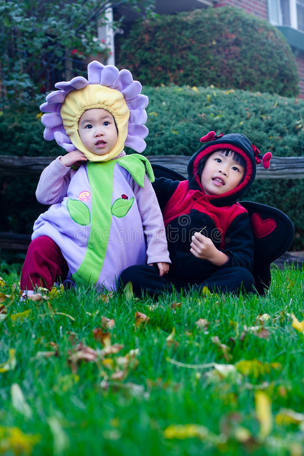 Bambini di Halloween fotografie stock libere da diritti
