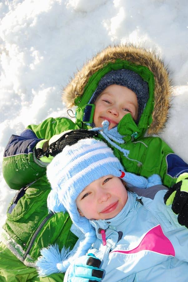 Bambini di inverno immagine stock libera da diritti