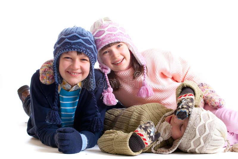 Bambini di inverno fotografia stock