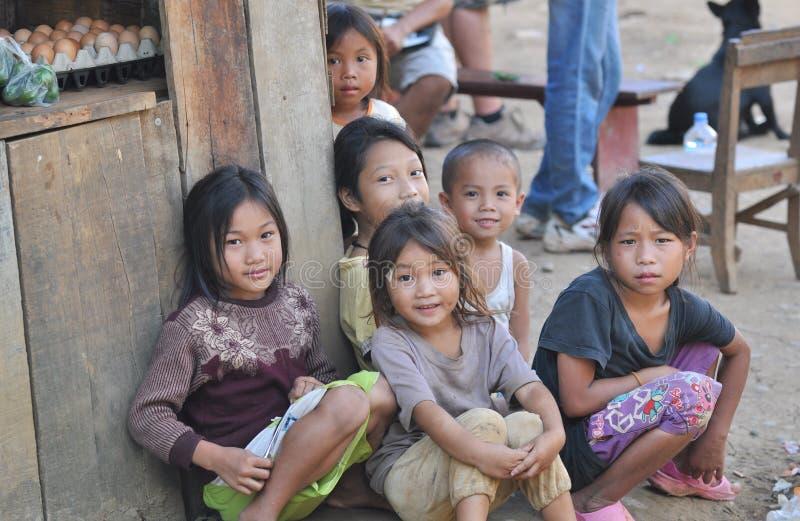 Bambini di Khmu immagine stock libera da diritti