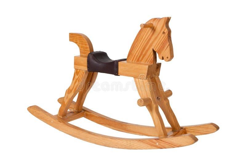 Bambini di legno della presidenza del cavallo di oscillazione fotografie stock libere da diritti