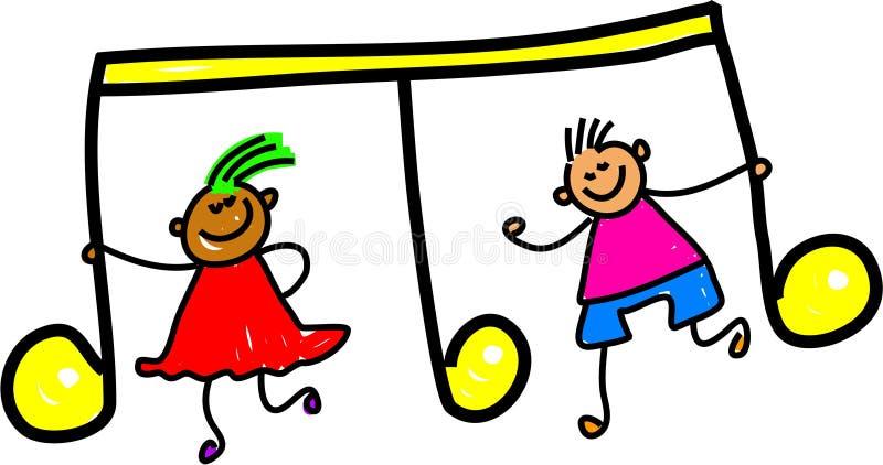 Bambini di musica illustrazione di stock