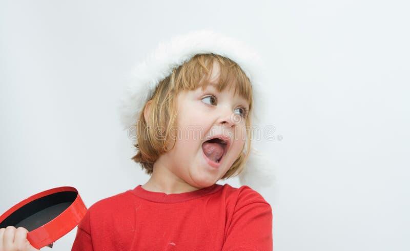 Download Bambini di natale fotografia stock. Immagine di regalo - 7323784