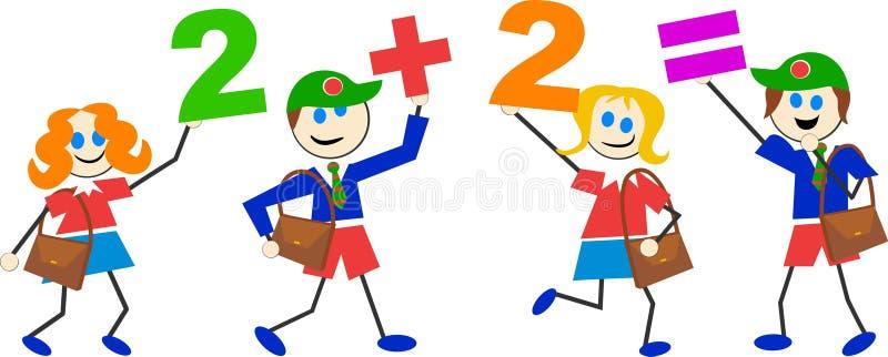 Bambini di per la matematica royalty illustrazione gratis
