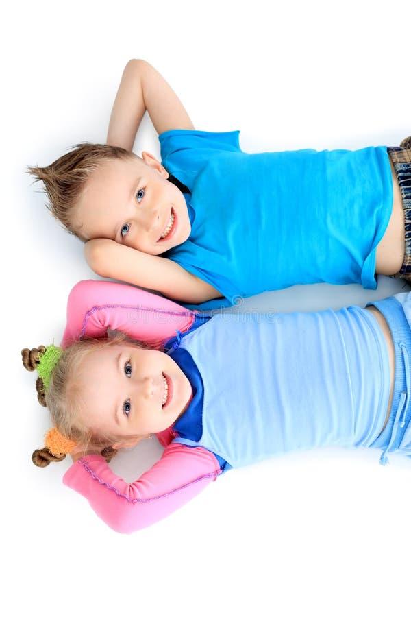 Bambini di riposo fotografia stock