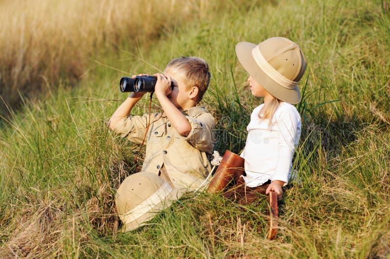 Bambini di safari immagine stock libera da diritti