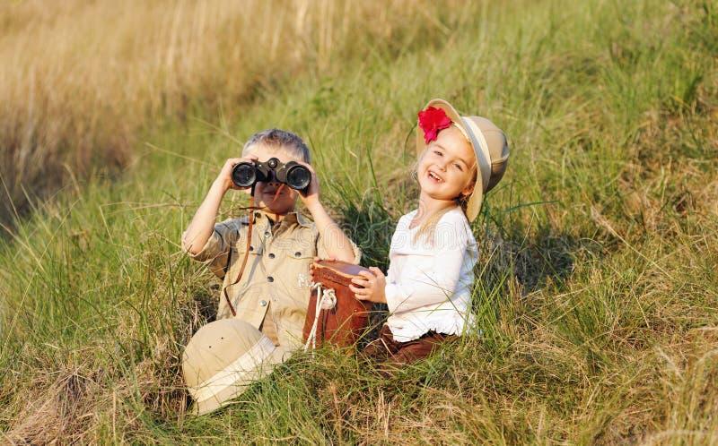 Bambini di safari fotografie stock