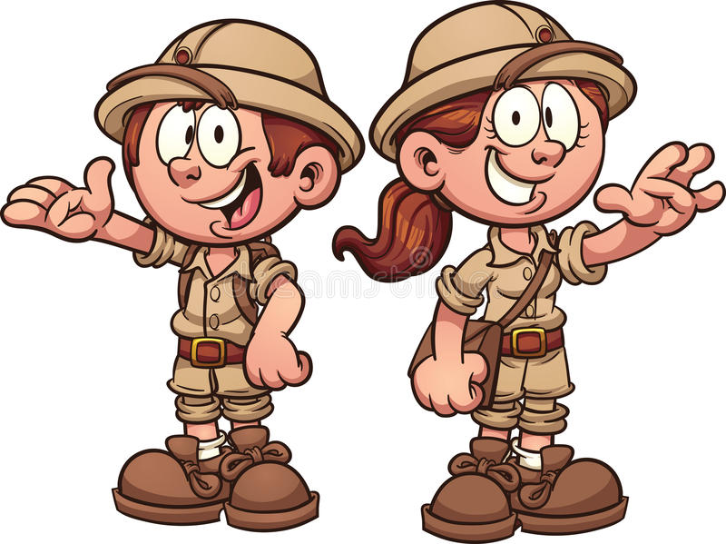 Bambini di safari illustrazione vettoriale