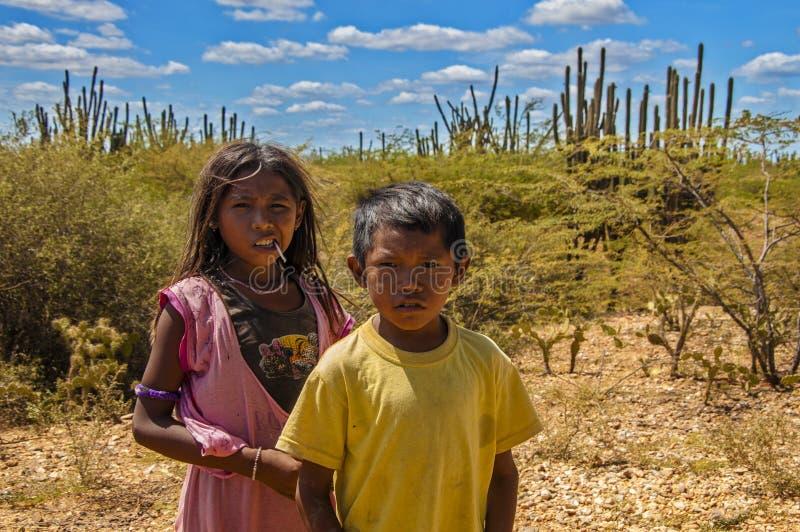 Bambini di Wayuu immagine stock