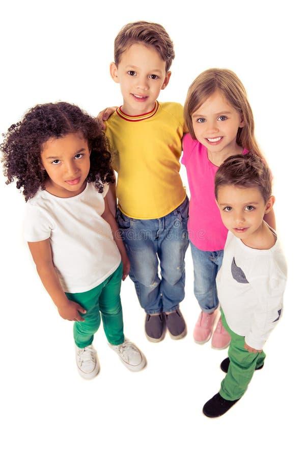 Bambini divertenti svegli fotografia stock libera da diritti